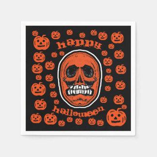 Happy Halloween - Grinder Teeth Skull 2 スタンダードカクテルナプキン