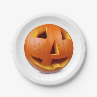 Happy halloween pumpkin ペーパープレート