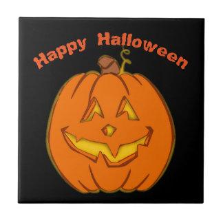 Happy Halloween Smiling Pumpkin タイル
