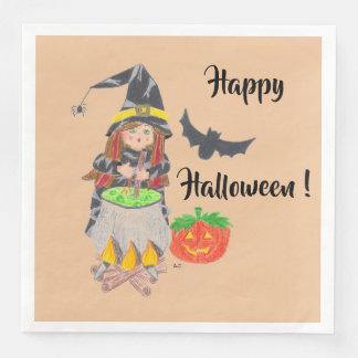 Happy Halloween witch paper napkins