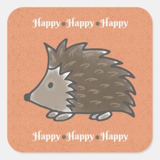 Happy Hedgehog Stickers スクエアシール
