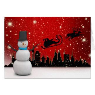 Happy Holidays Snowman カード