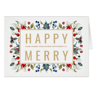 Happy Merry Holiday Greeting Card カード