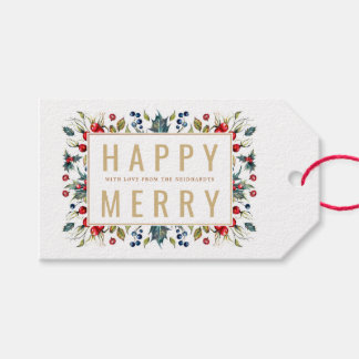 Happy Merry Personalized Holiday Gift Tags ギフトタグ