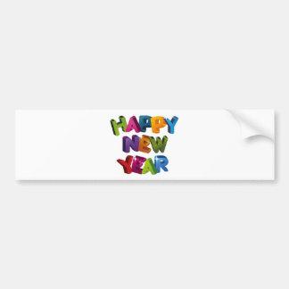 Happy New year バンパーステッカー