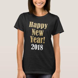 Happy New Year 2018 Golden Sparkle Women's T Shirt Tシャツ