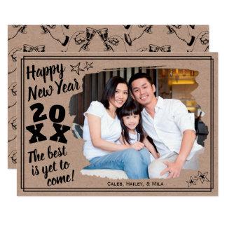 Happy New Year Add a Photo   Rough Edge Effect カード