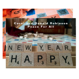 Happy New Year Board Word Game Phrase Celebration カード