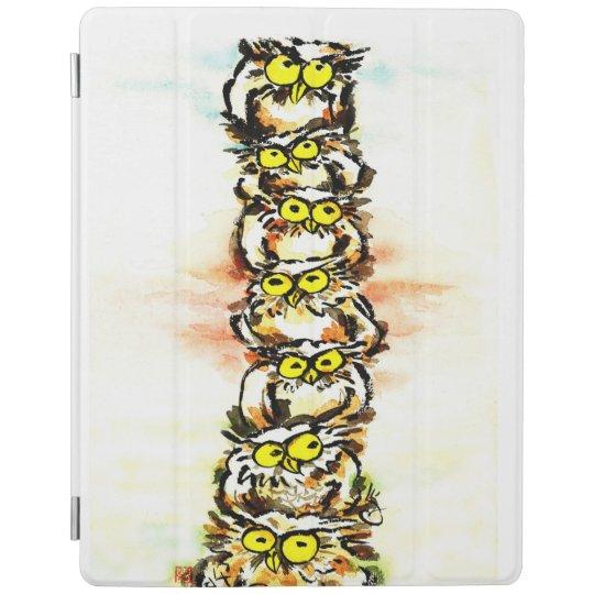 Happy owl family / ふくろう一家 iPadスマートカバー