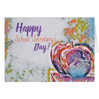 Happy School Secretary's Day Card カード