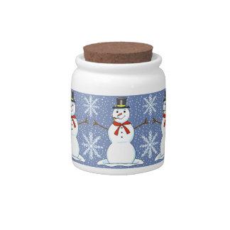 Happy Snowman Christmas Candy Jar キャンディージャー