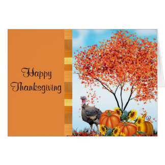 Happy Thanksgiving with Greeting Inside Card カード