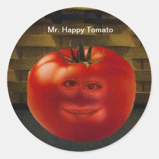happy Tomato Stickers氏 ラウンドシール