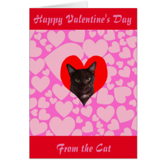 Happy Valentine's Day From The Cat (Black Cat) カード