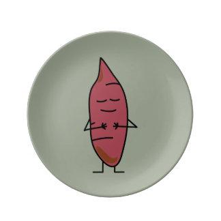 happybaked焼けるサツマイモのヤマイモのヤマイモのポテト 磁器プレート