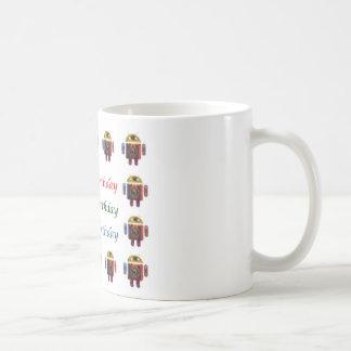 HappyBirthdayのアンドロイドのハッピーバースデー コーヒーマグカップ