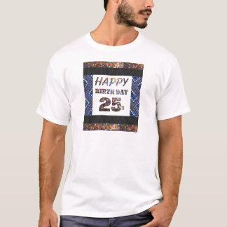 happybirthdayハッピーバースデー25 25第25 tシャツ