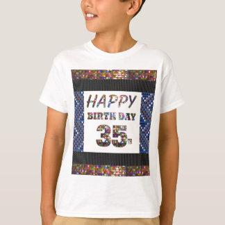 happybirthdayハッピーバースデー35 35第35 tシャツ