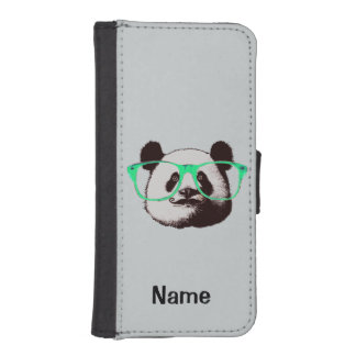 Harajukuのパンダのファッションのかわいいパンダ iPhoneSE/5/5sウォレットケース
