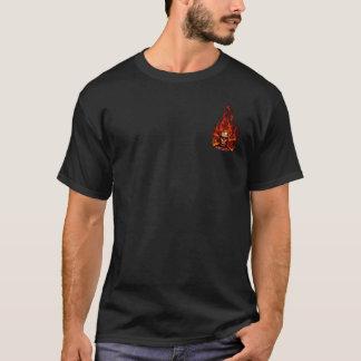 hardartのkustoms -燃えるようなスカル tシャツ