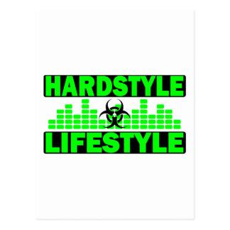 Hardstyleのライフスタイルのhazzardおよびテンポのデザイン ポストカード