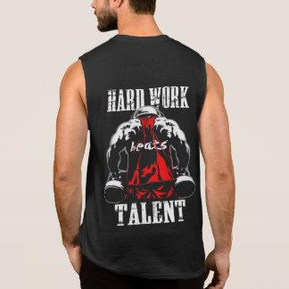 Hardworkは才能の体育館の刺激タンクを打ちます 袖なしシャツ