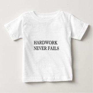 Hardworkは決して失敗しません ベビーTシャツ