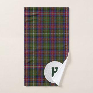 Hargis Clan Tartan Plaid Golf Towel ハンドタオル