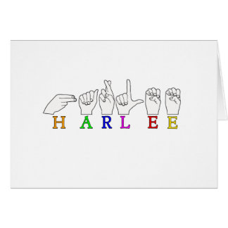 HARLEE FINGERSPELLED ASLの印の名前 カード