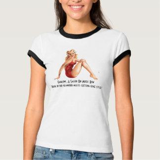 HarlowのサロンPinの女の子のTシャツ Tシャツ