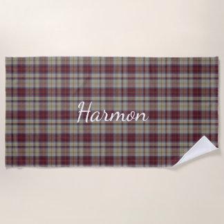 Harmonの服のタータンチェック格子縞のビーチタオル ビーチタオル