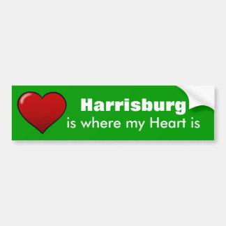 Harrisburgは、私のハートがあるところです バンパーステッカー
