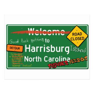 Harrisburgノースカロライナへようこそ ポストカード
