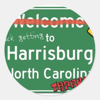 Harrisburgノースカロライナへようこそ ラウンドシール
