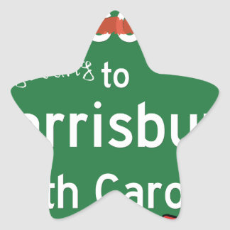 Harrisburgノースカロライナへようこそ 星シール