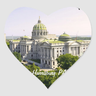 Harrisburg PA上の気球 ハートシール