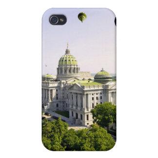 Harrisburg PA上の気球 iPhone 4 ケース