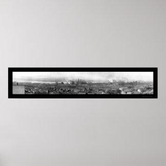 Harrisburg PA Steel Companyの写真1909年 ポスター