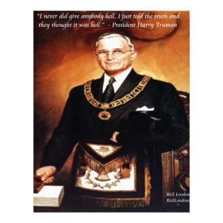 """Harry Trumanは""""それらに地獄""""の引用文与えませんでした レターヘッド"""