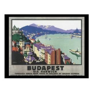 Harwich_Vintage旅行ポスターによるブダペスト ポストカード