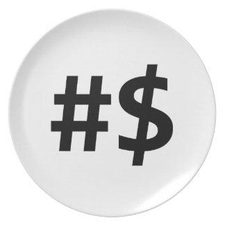 hashtagのお金 プレート