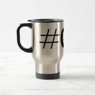 Hashtagのギークの芸術のギフト トラベルマグ