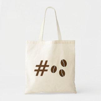 Hashtagのコーヒー豆の戦闘状況表示板 トートバッグ