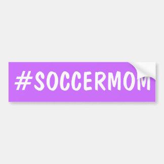 Hashtagのサッカーのお母さん バンパーステッカー