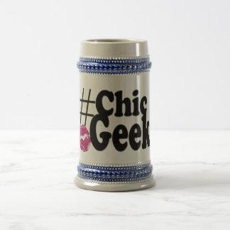 Hashtagのシックなギークのキスの芸術のギフト ビールジョッキ