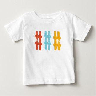 hashtagのティー ベビーTシャツ