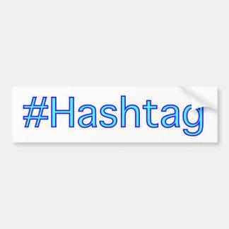 Hashtagのバンパーステッカー バンパーステッカー