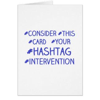 Hashtagの介在 カード