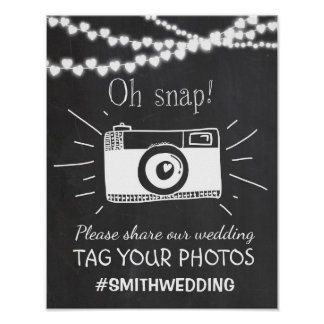 hashtagの印Instagramを結婚する社会的な媒体 ポスター
