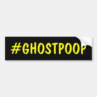 Hashtagの幽霊のウンチ バンパーステッカー